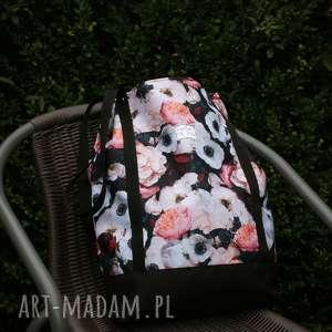 torebka kwiatowa kordura, torba, torebka, a4, kwiaty, jesień