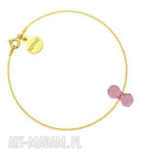 złota bransoletka z kryształowym ciężarkiem swarovski crystal, bransoletka, ciężarek