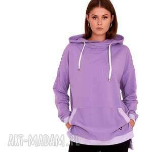 trzyforu bluza dresowa ewa kolor fioletowy, bluza, spódnica, płaszcz, sukienka