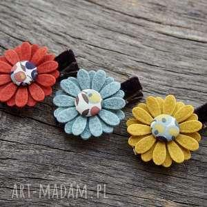 ozdoby do włosów spinki kwiatki jesień, kwiatki, spinki, dowłosow