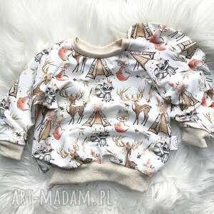 blzua dresowa dla dziecka liski, bluza dziecka, noworodka
