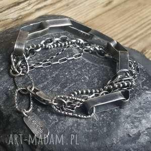 bransoletka srebrna, srebro, srebro oksydowane, biżuteria na prezent