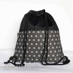 handmade czarno-biały geometryczny