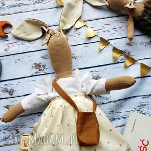 maskotki pani królik z wyszytym imieniem, maskotka, przytulanka, urodziny