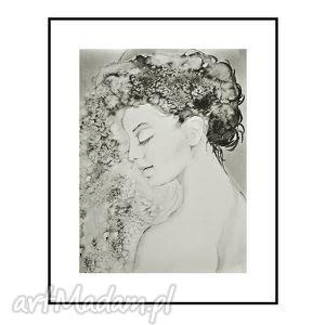 caprice 2, portret kobiety, plakat 50 66 cm, kobieta, portret, obraz,