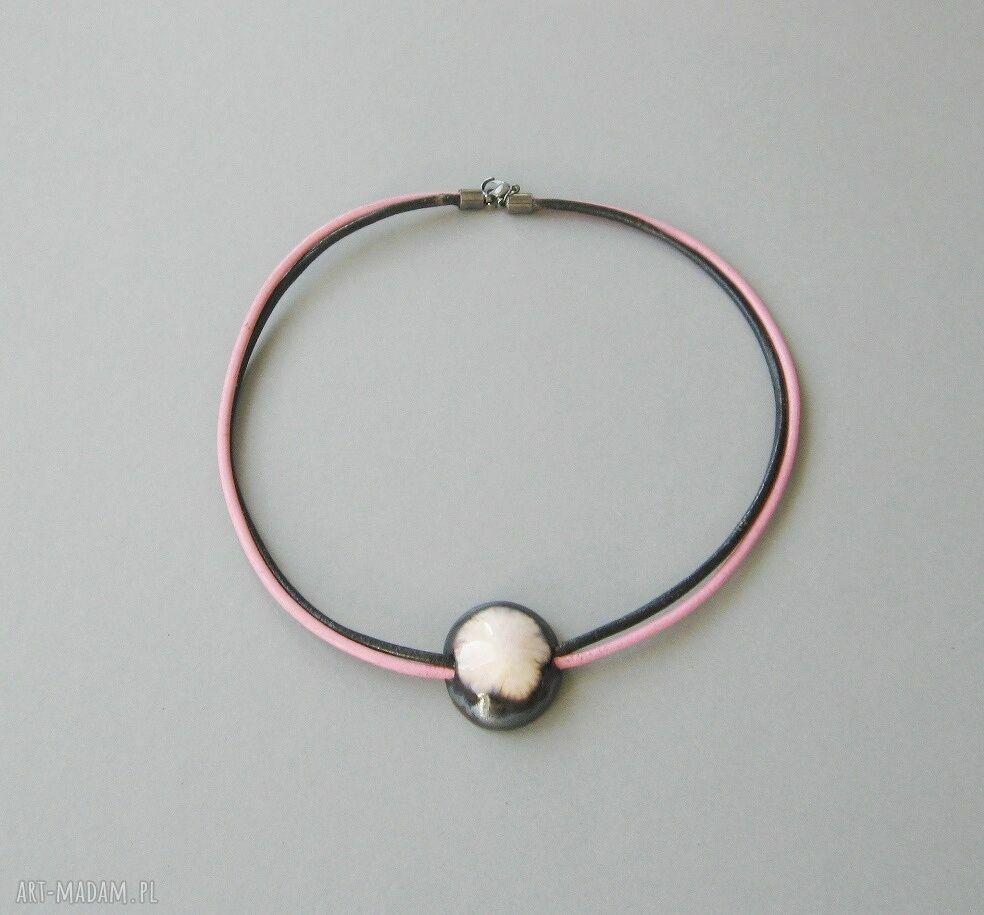 """naszyjnik naszyjniki różowe """"wytworna perła"""""""