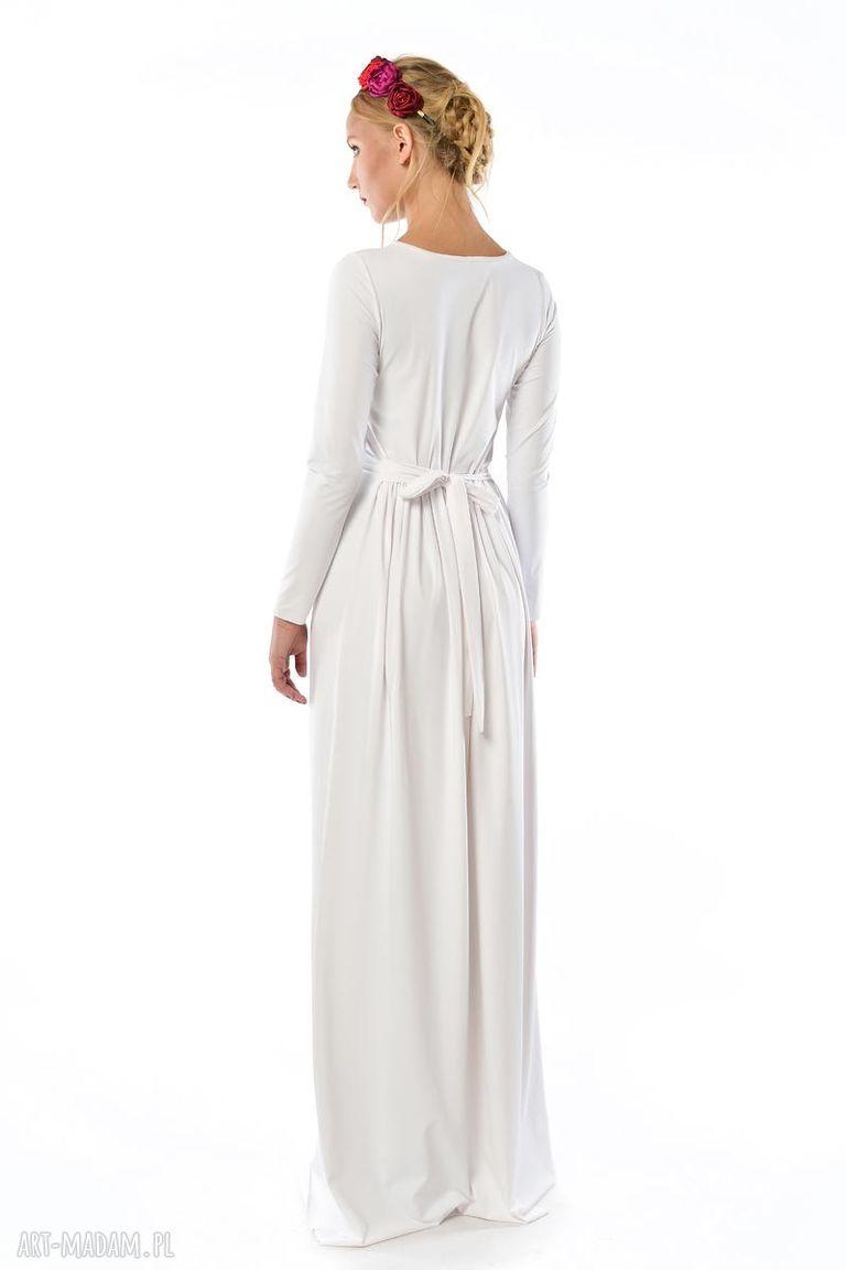 handmade ślub ślubna cristina patria 2 : biała suknia