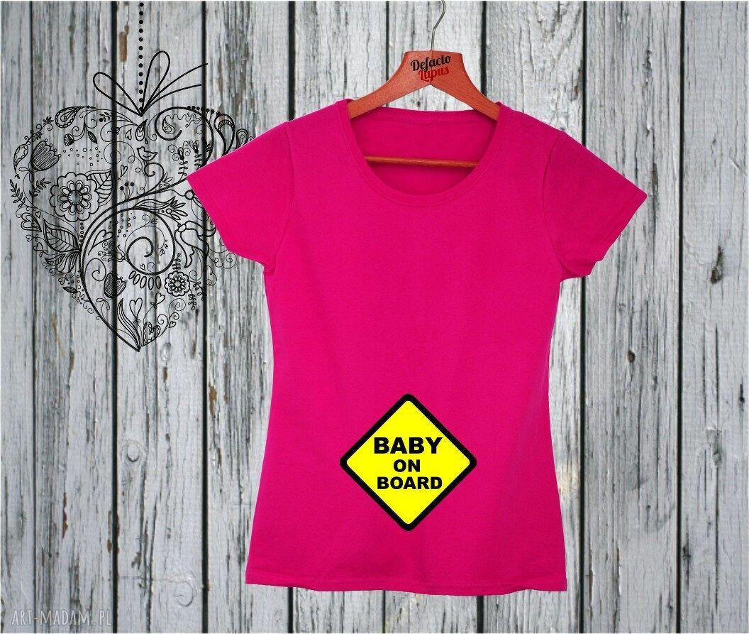 handmade ciążowe koszulka z nadrukiem ciążowym, dla kobiety w ciąży, mama