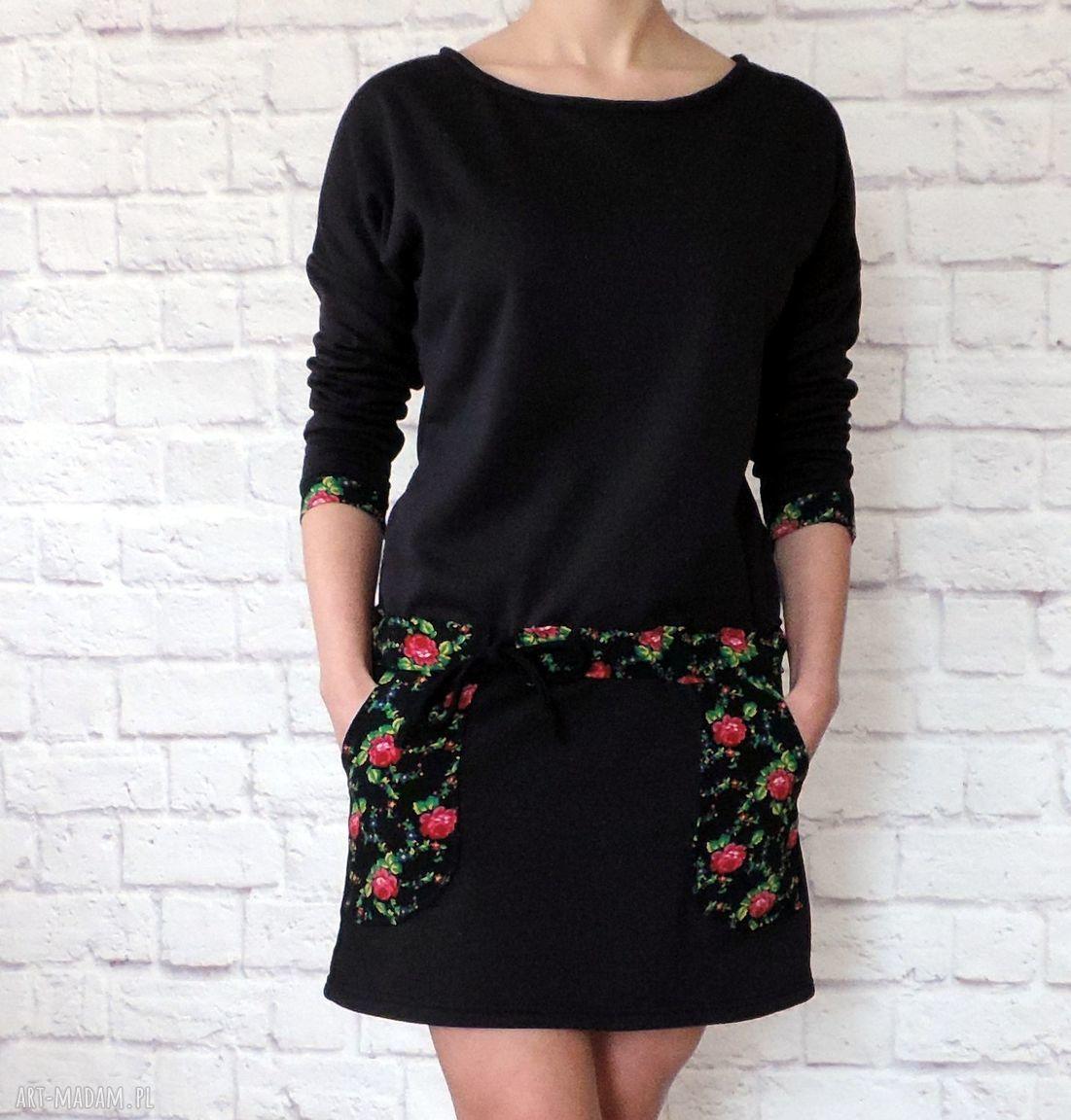 hand-made sukienki dresowa sukienka tunika folk folklor cleo kwiaty