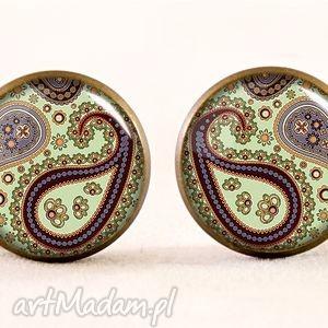 handmade kolczyki orientalne nerkowce - kolczyki sztyfty