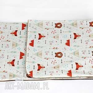 Kocyk Minky 100x75 Lis Indianin, kocyk, kołderka, chłopiec, niemowlak, lis, dziecko
