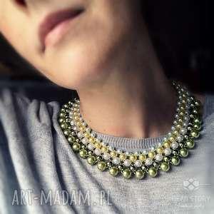 Roma naszyjniki bead story kolia, korale, perełki, pastele, bal,