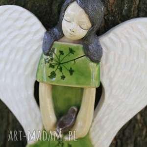 handmade dla dziecka ceramiczny anioł na ścianę, prezent