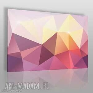 obraz na płótnie - kryształ różowy żółty 120x80 cm 62504, kryształ, minerał, bryła