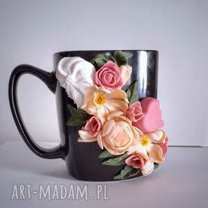 ręcznie wykonane kubki kubek flowers