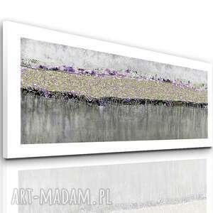 obraz na płótnie rzeka wzruszeń z marginesem 150x60, nowoczesne, abstrakcyjne