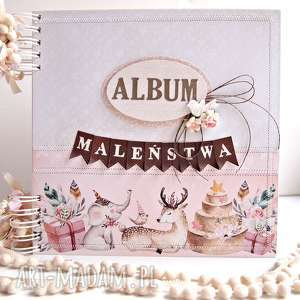 album maleństwa-różowy/25x25cm, album, prezent, chrzest, pamiątka, scrapbooking