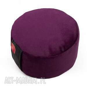welurowa poduszka zafu do medytacji - z pokrowcem gryką - tworky, joga, pufa