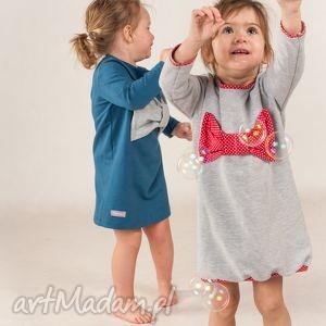 sukienka bombka - kokarda, ubranka, sukienka, dziewczynka, tunika, kokarda dla