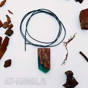 Wisior Elven King s Shield [LUMI Collection], wisior, naszyjnik, zieleń, las, góry