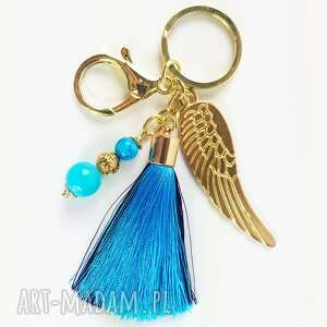 luci and love breloczek anielski ze skrzydłami w złotych okuciach