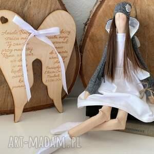 hand-made lalki anioł pamiątka pierwszej komunii świętej chrztu
