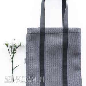 piankowa torba shades of grey - miejska, streetwear, a4, techniczna, prosta, zakupowa