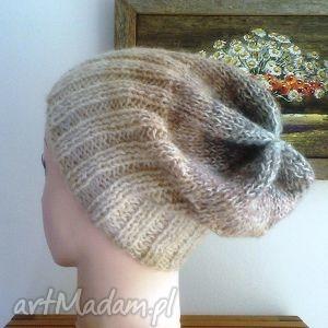 promocja czapek ze szwem zima w beżach, czapka, zima, ombre, rękodzieło czapki