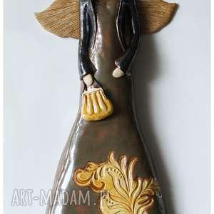 anioł w stylu wiktoriańskim, ceramika, anioł