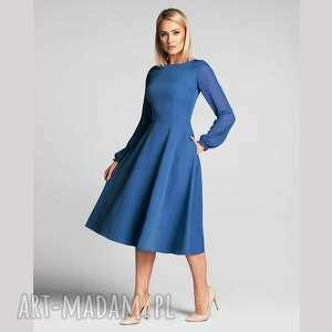 sukienki sukienka aniela total midi niebieski, midi