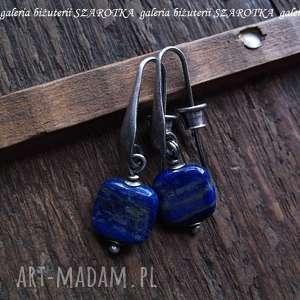 NOCNE NIEBO kolczyki z lapisu lazuli i srebra, lapis, lazuli, srebro, oksydowane