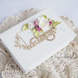 Pudełko na zdjęcia - ,pudełko,zdjęcia,ślubne,pamiątka,