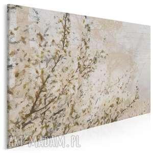 obraz na płótnie - drzewo wiśnia kwiaty 120x80 cm 20701, wiśnia