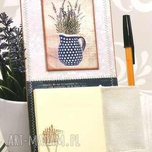 notes magnes na lodówkę - dzban lawendy n8, kuchnia, lawenda, zakupy, notatki