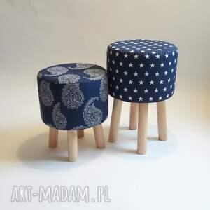 Pufa Niebieskie Gwiazdki 2, puf, pufa, stołek, taboret, hocker, ryczka