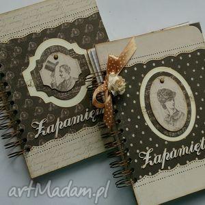 Notesy - Pan i Pani Vint - ,notes,pamiętnik,scrapbooking,vintage,