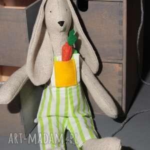 Prezent Królik TILDA na Wielkanoc prezent dla dziecka z marchewką, królik, tilda