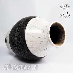 ceramika wazon raku spękany, raku, wazon, ceramika, artystyczna, krakle