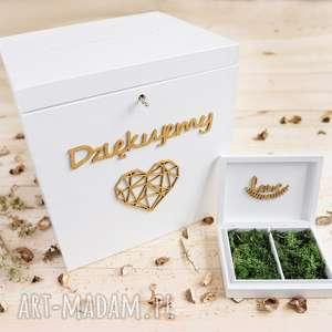 ślub zestaw ślubny - pudełko na koperty na obrączki