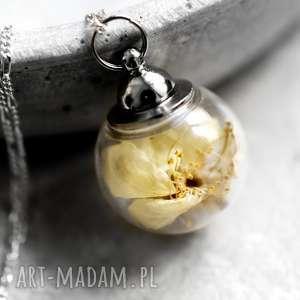 925 srebrny łańcuszek kwiaty wiśni - żółte naszyjniki