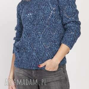 ażurowy sweter, swe123 jeans, ażurowy, melanż, sploty, ciepły, wygodny