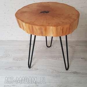 stoły stolik kawowy, z drewna olchy, drewniany stolik, w stylu