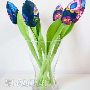 tulipany z motywem ludowym 6 szt, tulipany