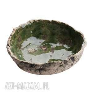 unikalny, miska ceramiczna, ceramika użytkowa, glina, zieleń