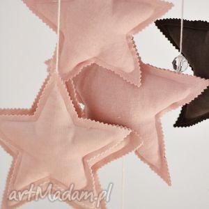 zawieszka 17x17cm, zawieszka, gwiazda, gwiazdka, łóżeczko, lniana dla dziecka