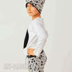 Prezent Zimowa czapka SPLASH, czapka, beanie, podwójna, dziecko, kleks, prezent