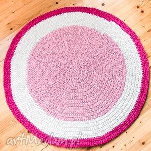 pokoik dziecka dywan 110 cm ze sznurka bawełnianego, fuksja, dywan, dywanik, chodnik