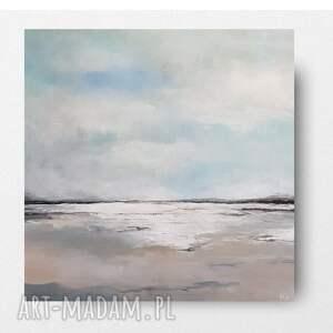 plaża-obraz akrylowy formatu 50/50 cm, pejzaż, akryl, obraz, plaża