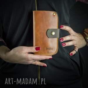 portfele skórzany ręcznie wykonany portfel california od ladybuq art w kolorze