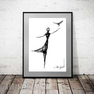 święta, grafika 136, czarno biała grafika, nowoczesna do salonu